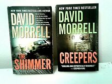 2 David Morrell thrillers-Creepers & The Shimmer-paperbacks-free shipping
