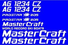 MasterCraft Prostar 205 Full set #3 w/Matching Boat Registration Numbers