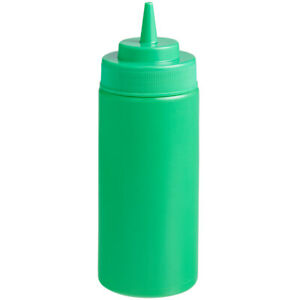 Choice 16 oz. Wide Mouth Squeeze Bottle - 6/Pack (select color)