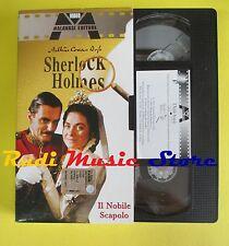 film VHS cartonata SHERLOCK HOLMES Il nobile scapolo 2002 MALAVASI (F37) no dvd