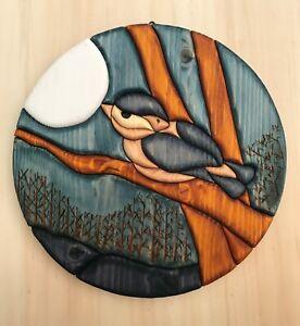 Picture Bird, handmade, wood