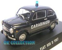 1:43 modellino Carabinieri / Police - FIAT 600 D - 1967 (10)