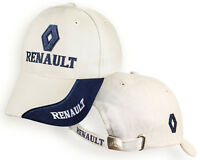 RENAULT Blanc Beige Casquette Auto Logo Brodé Chapeau Baseball Cap Homme Femme