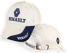 Homme RENAULT Blanc Beige Casquette Auto Logo Brodé Chapeau Baseball Cap