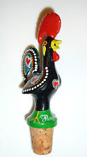 """Metal Galo de Barcelos, Rooster of Portugal Wine Bottle Topper with Pour (4.75"""")"""