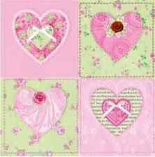 4 X Papel Vintage Mesa Servilletas/Tea Party/artesanía/pinkheart/Decoupage