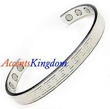 Accents Kingdom Men's Magnetic Copper Golf Bangle Cuff Bracelet Aztec Silver