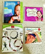 New ListingLot 4 Klutz Kid Junior Teen Craft Books Wire Shrink Art Hemp Spool Knit Jewelry