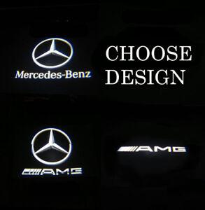 4 X LED Car Door Courtesy LOGO Puddle Light for Mercedes Benz A45 Easy Fit