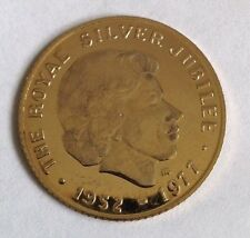 9ct Solid Gold Commemorative Coin - 1977 Silver Jubilee - Original Case
