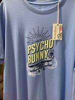 Psycho Bunny MENS PRINTED TEE SHIRT B6U819G1PC NAVY NEW 2019