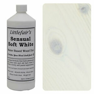 Littlefair's Water Based Eco Friendly Wood Stain / Dye - Sensual Soft White