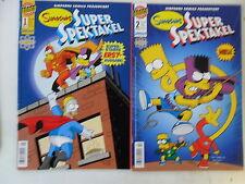 2 x Simpsons Super espectáculo-nº 1+2 - Panini-z.1-2