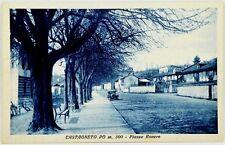 Cartolina Formato Piccolo - Castagneto Po - Piazza Rovere Non Viaggiata