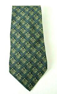 Giorgio Armani Men's Dress Neck Tie Gray Checkered 100% Silk #1008