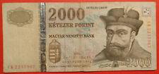 """FORINT 2000, Ungheria, 2013, km #198e, """"CB"""" prefisso"""