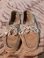 Sperry Top-Sider tan leather boat style oxfords Womens shoes size 7 M 9276619