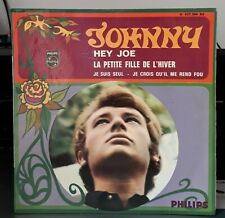 "EP 45t  JOHNNY HALLYDAY  "" hey joe ""  1967 réf 437304BE imp JAT B.I.E.M France"