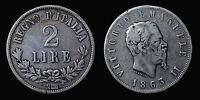 pcc810_8) Regno d'Italia Vittorio Emanuele II 2 lire Valore 1863 Napoli