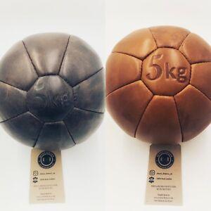 Retro Reborn Real leather medicine ball, fitness ball
