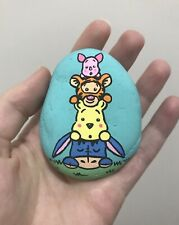 Hand Painted Rock Winnie The Pooh Tigger Eeyore Piglet