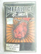 METALLICA ST ANGER RARE CASSETTE INDIA NEW june 2003