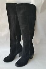 New Dolce Vita Owin Over The Knee Tall Boots Black Suede Sz 8 $280