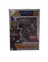 Funko POP Rare MARVEL Collector's Corps ROCKET With GROOT #211 Guardians Vol. 2