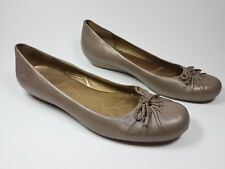 Clarks Active Air gold leather ballet shoes uk 8
