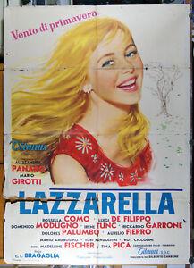 manifesto 2F film LAZZARELLA Alessandra Panaro Mario Girotti (Terence Hill) 1957