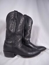 WOMENS NOCONA GENUINE SOFT BLACK LEATHER WESTERN COWBOY BOOTS SIZE 10 AA