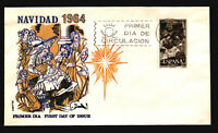 Spain 1964 Navidad FDC / Flash Thermo & Painted / UA - L3648