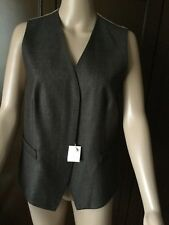 Max Mara gilet Woman brown, size 44, silk-wool  Gilet seta-lana Donna marrone