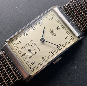 1940s Oversize Stows Extra Step Stainless Steel Case