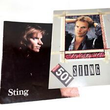 Sting Tour Programmes, 501 World Tour, Nothing Like Sun