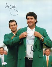 ADAM SCOTT BUBBA WATSON SIGNED AUTO'D 11X14 PHOTO PSA/DNA COA Y95193 PGA MASTERS