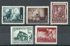 Croatia 1941-45 Sc# 33/81 Velebit mounts Zagreb Laybor day MNH