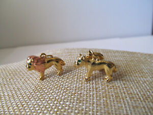 Joan Rivers Noah's Ark Enamel Charms with Extenders a Lion and a Lioness