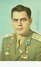 More details for andriyan nikolayev russian cosmonaut signed autograph postcard aftal coa vostok