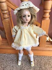 "14"" Pretty Vintage Wendy Ann Madame Alexander Composition Girl Child Doll swivel"