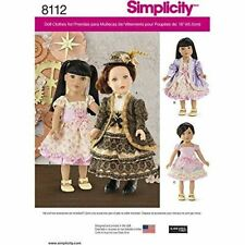 """Simplicity Pattern 8112 18"""" Doll Clothes Dress One Size"""