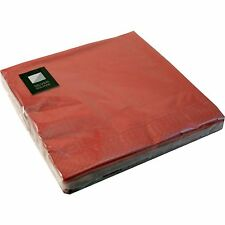 60 x Burgundy 3 Ply Paper Napkins 40cm x 40cm Party Serviettes Tableware Cater