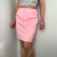 60\u2019s Vintage \u201cMiss Siren\u201d Peignoir with Pink Ribbon and Lace Trim