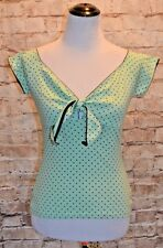 Modcloth Pizzazz You Like It Top Pistachio XS fits S NWT dotted Hell Bunny Mint