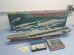 Aurora Model Kit No. 720 USS Enterprise Aircraft Carrier Vintage Ship BUILT +Box