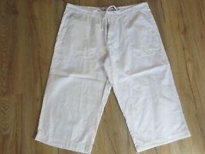 Sommer Hose SMOG Bermuda Baumwolle Leinen XL zip fly  weiß TIP TOP  /N43