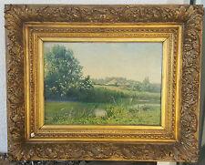 Charles QUINET Quadro Olio su tela XIX 19e Segno PRINTEMPS un PERNAY olio Arte