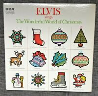 "Elvis Sings The Wonderful World Of Christmas Music 12"" Vinyl Record RCA 1971 VG+"