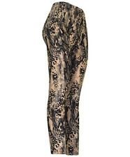 Women's Snake Skin Footless Printed Leggings Mid Rise Casual Body Fit