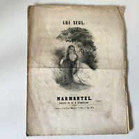 Partitura Le Individual H. Vermullen Música Marmontel Francia Musical XIX